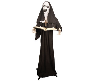 Partyline Halloween nun 165 cm with light and sound | Deco Halloween standing doll
