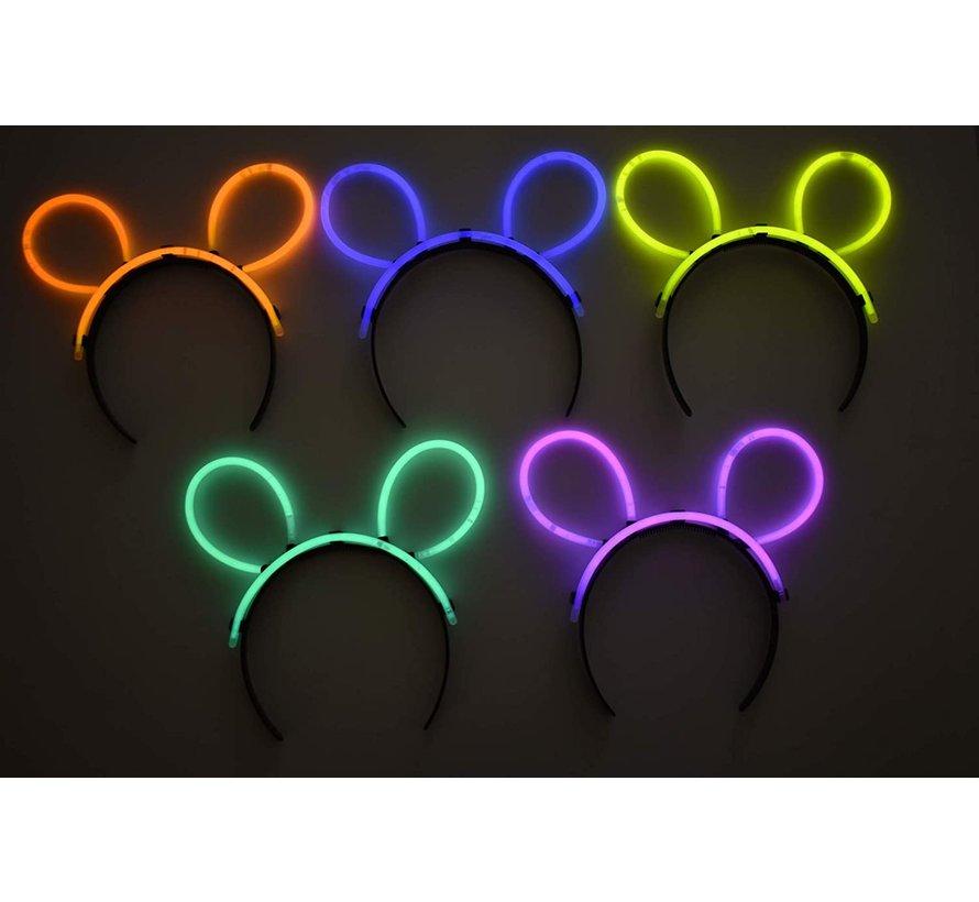 Glow bunny ears  connectors | zwarte connector