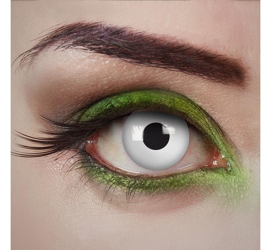 Zombie Alarm white lenses | White color lenses without vision correction | Halloween lenses