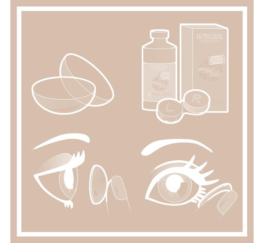 Lentilles blancs Zombie Alarm | Lentilles blancs sans correction | Lentilles d'Halloween