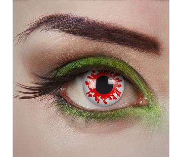 Aricona Lentilles blanches Bloody zombie | Lentilles de couleur blanche sans correction de la vue | Lentilles quotidiennes d'Halloween