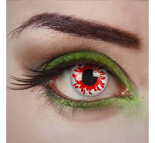 Aricona Bloody zombie white lenses | White color lenses without vision correction | Halloween daily lenses