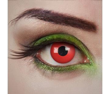 Aricona Lentilles rouges Devil Eye | Lentilles de couleur rouge sans correction | Jetables quotidiens d'Halloween