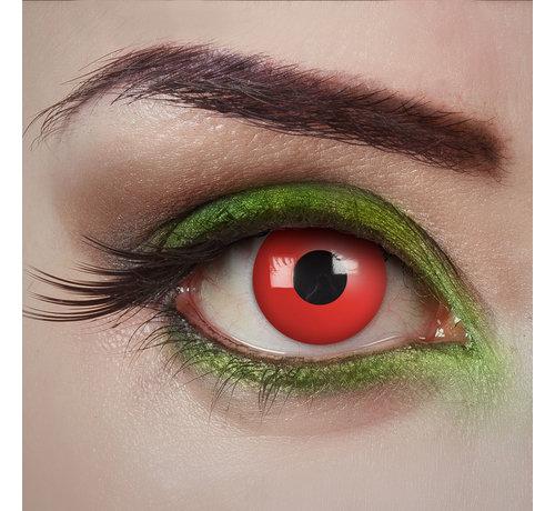 Aricona Lentilles rouges Devil Eye   Lentilles de couleur rouge sans correction   Jetables quotidiens d'Halloween