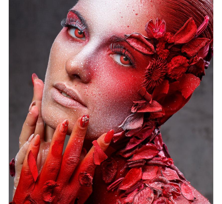 Lentilles rouges Devil Eye   Lentilles de couleur rouge sans correction   Jetables quotidiens d'Halloween