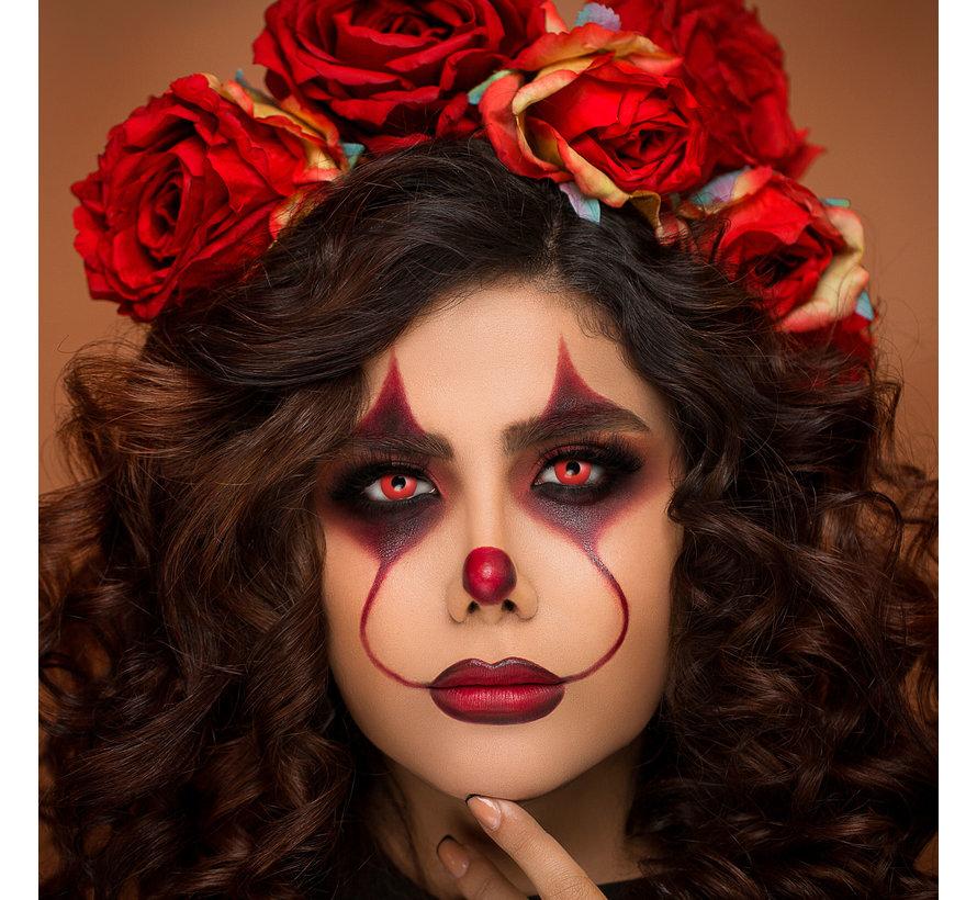 Devil Eye rode lenzen | Rode kleurlenzen zonder sterkte  | Halloween daglenzen