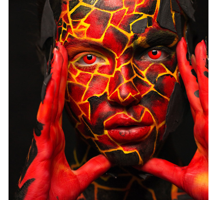 Devil Eye red lenses   Red color lenses without prescription   Halloween daily  lenses
