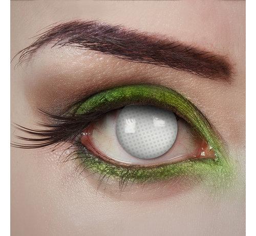 Aricona Blind White Behind Bars white lenses | White color lenses without vision correction | Halloween lenses