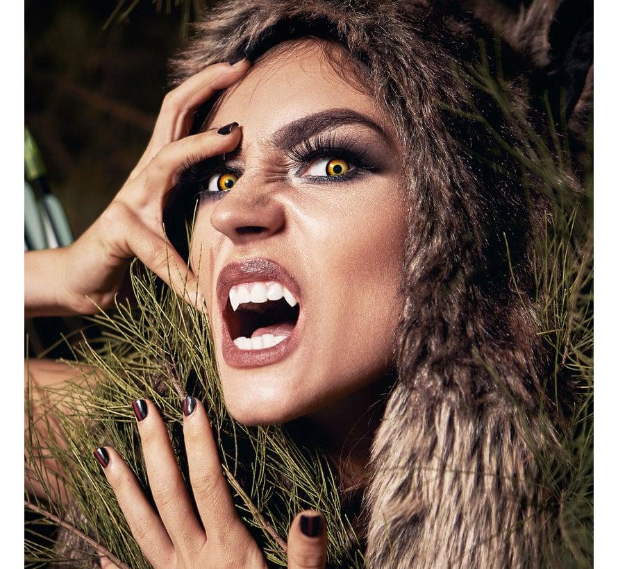 Weerwolf lenzen | Zwarte kleurlenzen zonder sterkte  | Halloween daglenzen