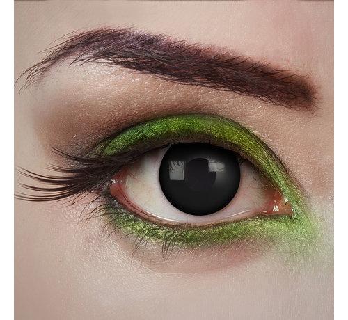 Aricona Black Desire lentilles noires  | Lentilles de contact  quotidiennes noires | Jetables quotidiens d'Halloween
