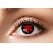 Eyecatcher Lentilles de couleur Sharingan Manga Uchiha | Vision 50% | Lentilles d'Halloween pour 3 mois d'utilisation