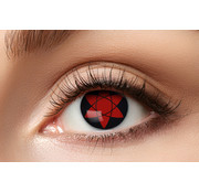 Eyecatcher Sharingan color lenses Manga Uchiha | Eyesight 50% | Halloween lenses for 3 months of use
