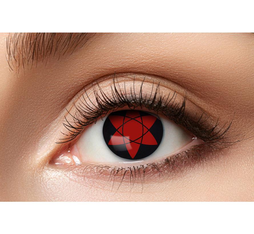 Sharingan color lenses Manga Uchiha | Eyesight 50% | Halloween lenses for 3 months of use
