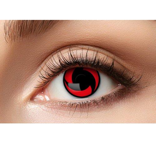 Eyecatcher Lentilles de couleur Sharingan Mangekyou | Lentilles de contact rouges | Lentilles d'Halloween pour 3 mois d'utilisation