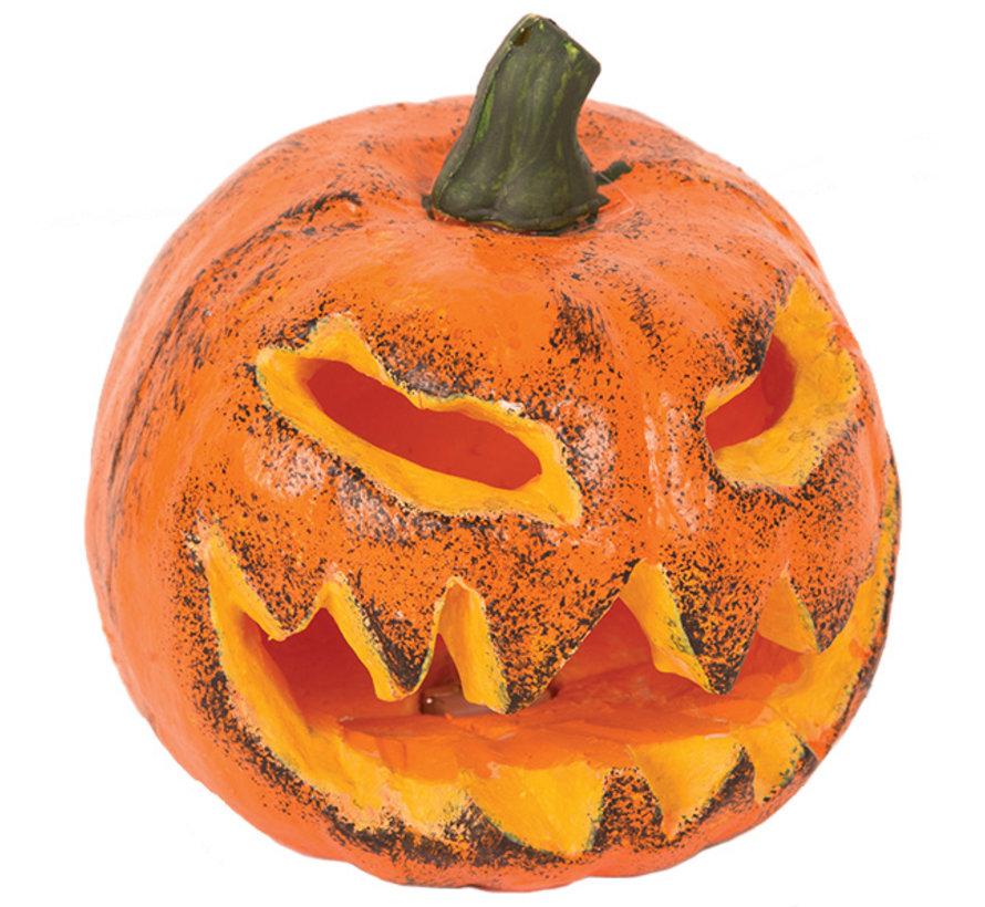 Halloween Pompoen 16 cm  met licht | Halloween decoratie