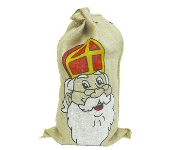 Partyline Jute zak van Sinterklaas | Jute zak 80 x 50 cm | Sint en Piet