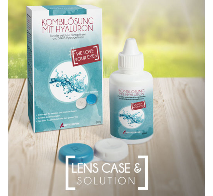 Lens solution 60 ml with storage box | Premium Lenses storage solution