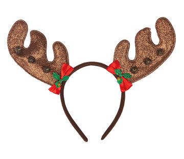 Partyline Diadème de renne avec cloches | Diadème renne | Diadème de Noël