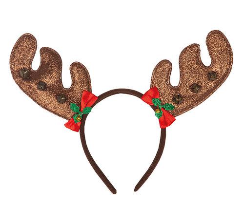 Partyline Diadème de renne avec cloches   Diadème renne   Diadème de Noël
