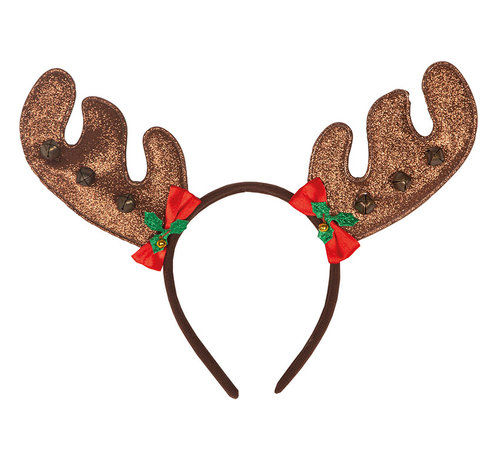 Partyline Reindeer Diadem with bells | Reindeer diadem | Christmas diadem