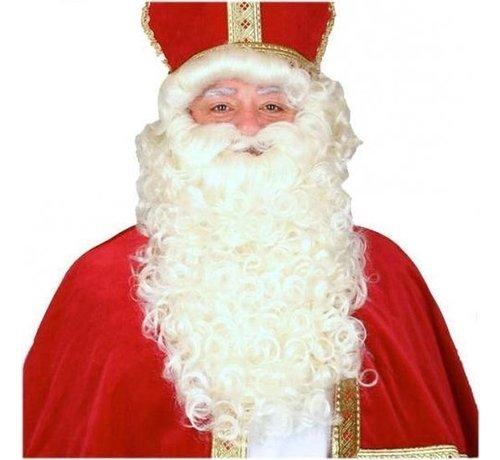 Breaklight.be St.Nicholas Wig | Wig of St.Nicholas| Fireproof | St.Nicholas and his help