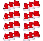 Chapeaux de Noël 24 pcs | Chapeau de Père Noël rouge | Accessoires de Noël