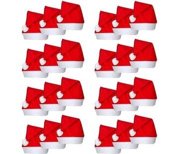 Kerstmutsen 24 stuks | Rode kerstmuts | Kerst Accessoires