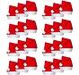 Kerstmutsen 24 stuks   Rode kerstmuts   Kerst Accessoires