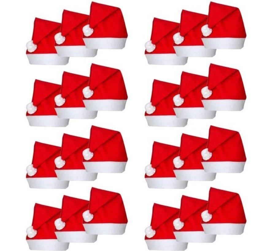 Christmas hats 24 pcs  Red Santa Hat   Christmas Accessories
