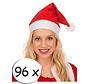 96 chapeaux de Père Noël rouge + 5 verres à champagne | Bonnet de Noel | Santa | Noël