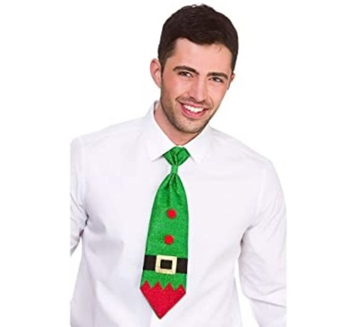 Wicked Costumes  Christmas Glitter tie - Green glitter tie for Christmas