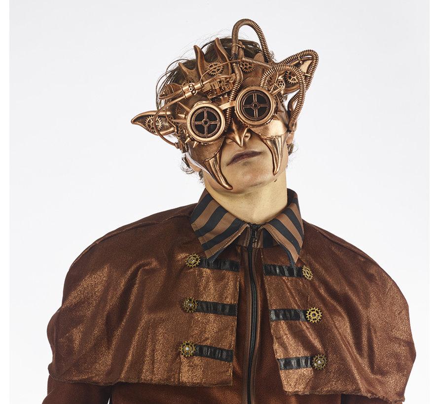 Steampunk Mask Bronze   Ive's Mask   retrofuturistic