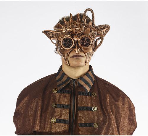 Partyline Steampunk Masker Brons | Ive's Masker | retrofuturistisch