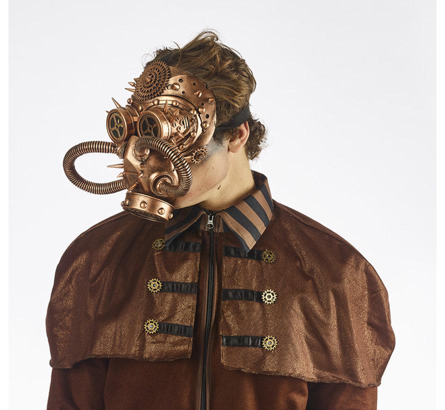 Steampunk gasmasker Brons | retrofuturistisch