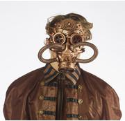 Partyline Steampunk gasmasker Brons | retrofuturistisch