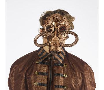Partyline Masque à gaz Steampunk Bronze | retrofuturiste