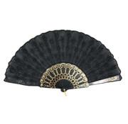 Partyline Fan black | Spanish Fan | Fan in black with gold