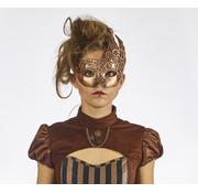 Partyline Masque pour les yeux Steampunk Bronze | rétro futuriste