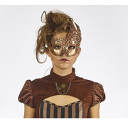 Partyline Steampunk Eye Mask Bronze | retro futuristic