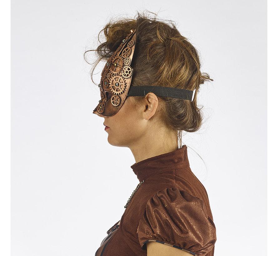 Masque pour les yeux Steampunk Bronze | rétro futuriste