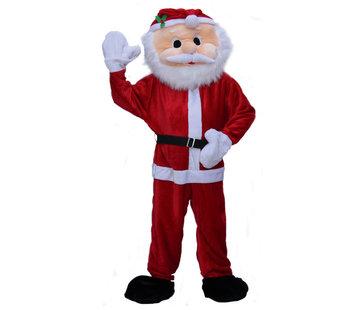Partyline Kerstman Deluxe Pluche Mascot Kostuum | Mascot kostuum