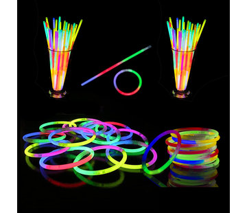 Breaklight.be Tri-Color Mixed Glow bracelets 100 pieces + connectors | Luminous bracelets