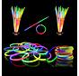 Bracelets Tri-Color Mixed Glow 100 pièces + connecteurs | Bracelets lumineux