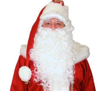 Partyline Luxe Kerstman pruik en baard