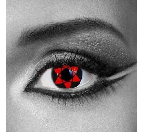 Eyecatcher Sharingan kleurlenzen Sasukes Mangekyu | 3-maandlenzen