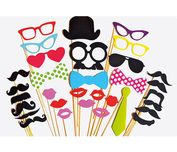 Partyline Photobooth Props Partyline  Accessoires photo fête lot de 30 pcs