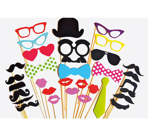 Partyline Photobooth Props | Photo accessories - party 30 pcs
