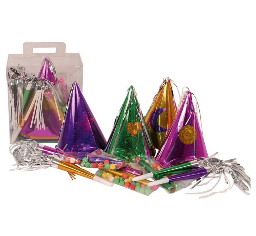 Feest Pakket 4 personen | Nieuwjaarspakket 3 accessoires per persoon