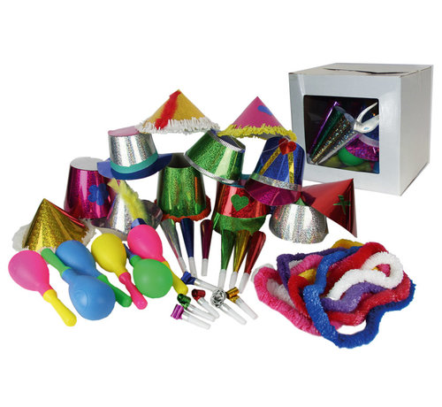Partyline Feest Pakket 12 personen | Nieuwjaarspakket 3 accessoires per persoon