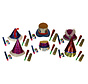 Kit Cotillons Partyline multicolores 6 personnes